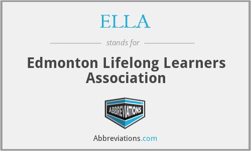 ELLA - Edmonton Lifelong Learners Association