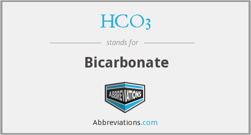 What does HCO3 stand for?