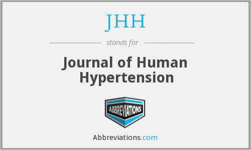 JHH - Journal of Human Hypertension