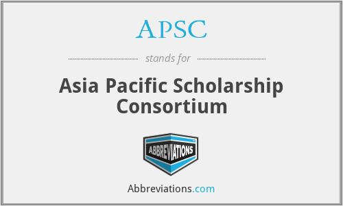 APSC - Asia Pacific Scholarship Consortium