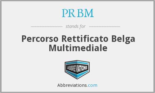 What does PRBM stand for?
