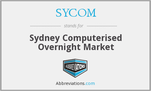 SYCOM - Sydney Computerised Overnight Market