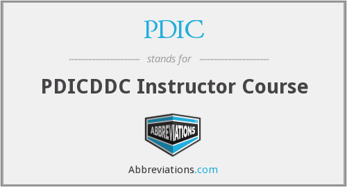 PDIC - PDICDDC Instructor Course