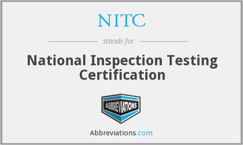 NITC - National Inspection Testing Certification