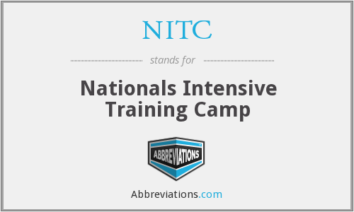 NITC - Nationals Intensive Training Camp