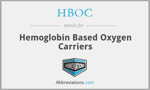 HBOC - Hemoglobin Based Oxygen Carriers