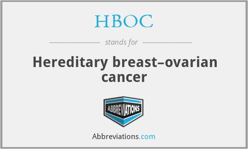 HBOC - Hereditary breast–ovarian cancer