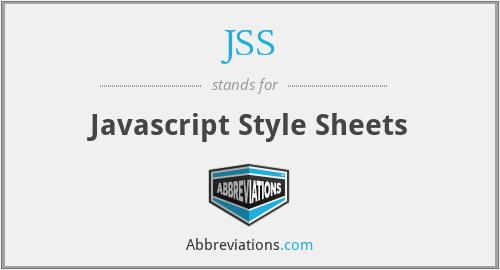 JSS - Javascript Style Sheets