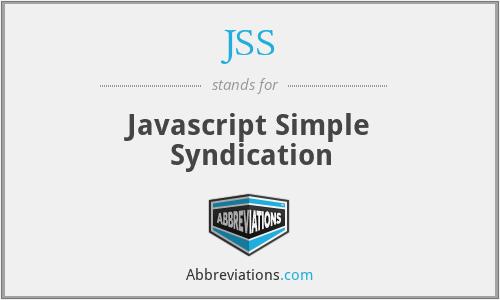 JSS - Javascript Simple Syndication