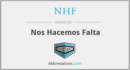 NHF - Nos Hacemos Falta