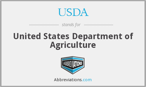 USDA - United States Department of Agriculture