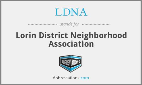 LDNA - Lorin District Neighborhood Association