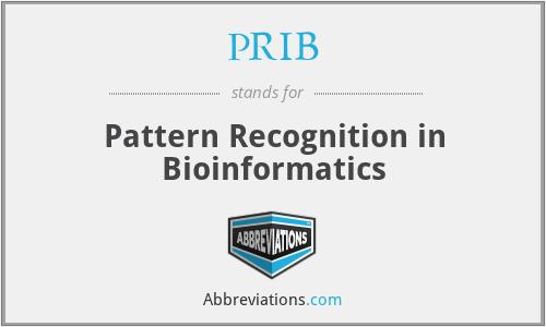 PRIB - Pattern Recognition in Bioinformatics