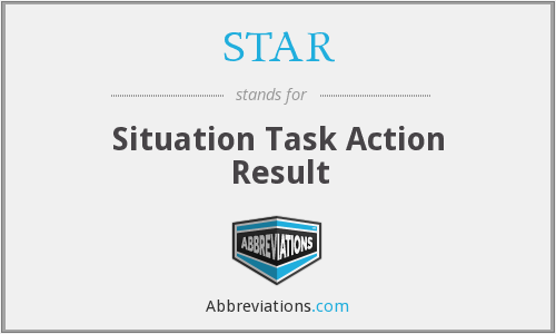 STAR - Situation Task Action Result