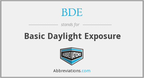 BDE - Basic Daylight Exposure