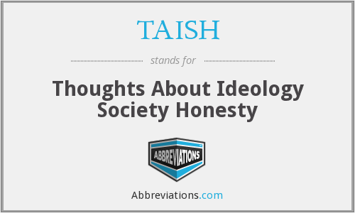 What does TAISH stand for?