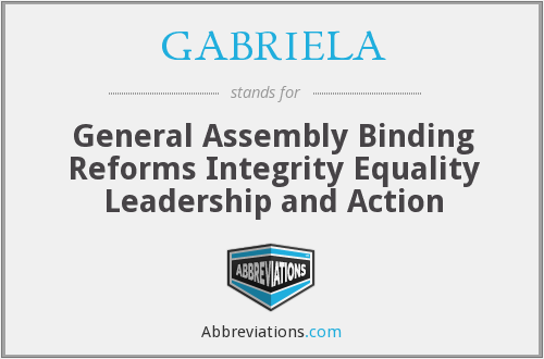 What does GABRIELA stand for?