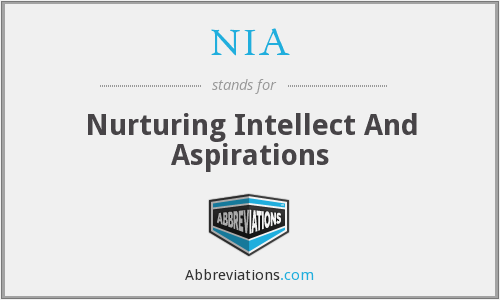 NIA - Nurturing Intellect And Aspirations