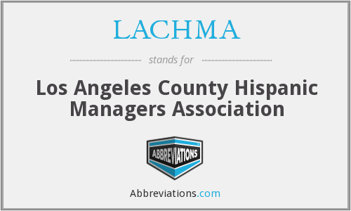 What does LACHMA stand for?