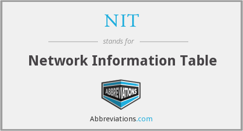 NIT - Network Information Table