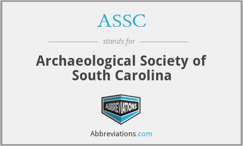 ASSC - Archaeological Society of South Carolina