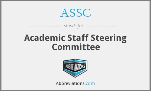 ASSC - Academic Staff Steering Committee