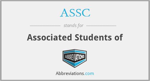ASSC - Associated Students of