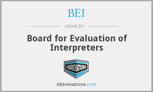 BEI - Board for Evaluation of Interpreters