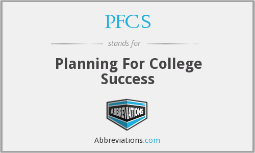 PFCS - Planning For College Success