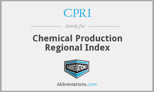 CPRI - Chemical Production Regional Index