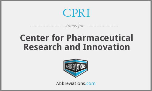 CPRI - Center for Pharmaceutical Research and Innovation