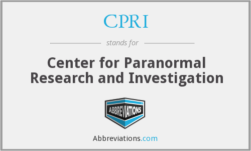 CPRI - Center for Paranormal Research and Investigation