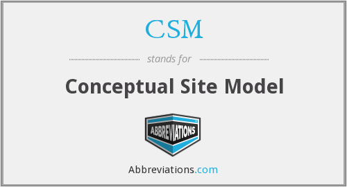 CSM - Conceptual Site Model
