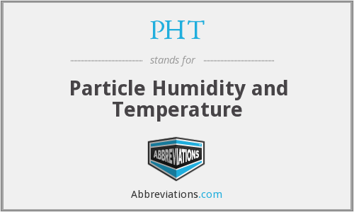 PHT - Particle Humidity and Temperature