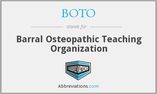 What does BOTO stand for?
