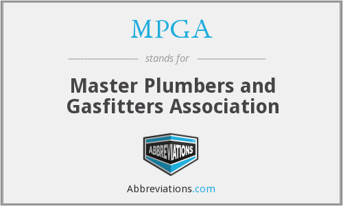 MPGA - Master Plumbers and Gasfitters Association