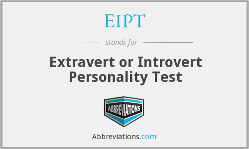 EIPT - Extravert or Introvert Personality Test