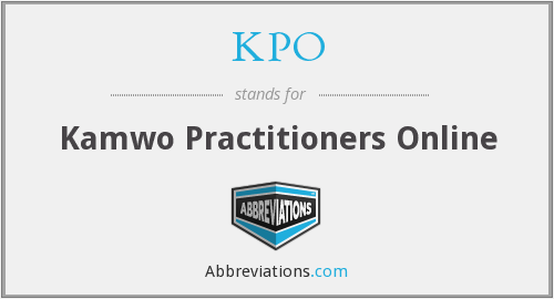 KPO - Kamwo Practitioners Online
