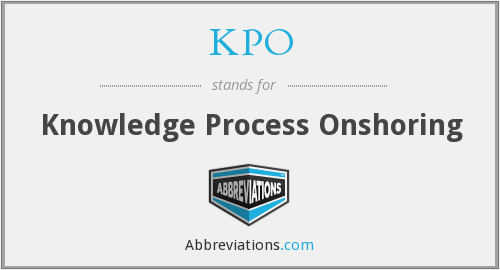 KPO - Knowledge Process Onshoring