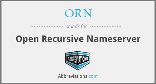 ORN - Open Recursive Nameserver