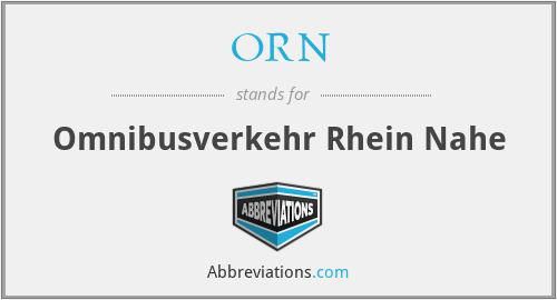 ORN - Omnibusverkehr Rhein Nahe