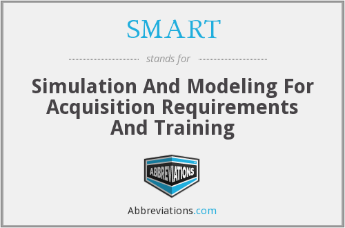 SMART - Simulation And Modeling For Acquisition Requirements And Training