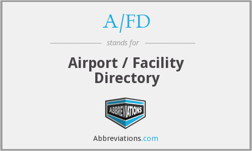 What does A/FD stand for?