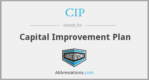 CIP - Capital Improvement Plan