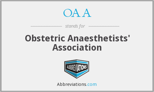 OAA - Obstetric Anaesthetists' Association