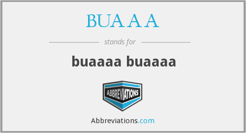 What does BUAAA stand for?