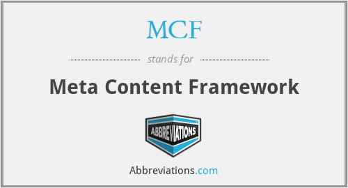 MCF - Meta Content Framework