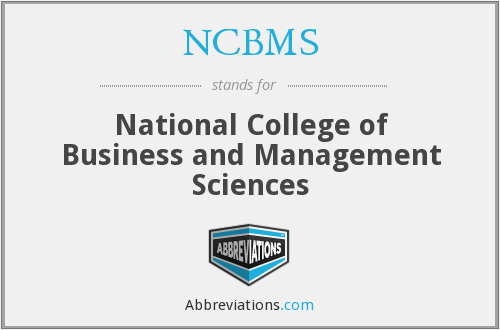 What does NCBMS stand for?