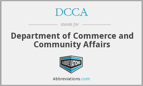 DCCA - Department of Commerce and Community Affairs