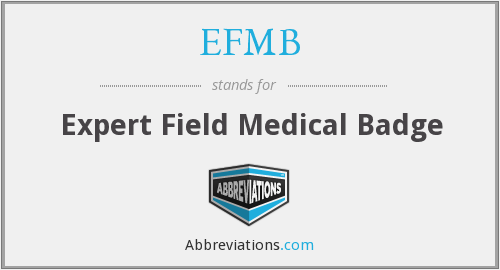 What does EFMB stand for?